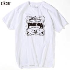 Diskon 2017 Pria Mencetak Pantera T Shirt Lengan Pendek O Neck Summer Fashion Putih Power Heavy Metal Rock T Shirt Swag Intl Oem Indonesia