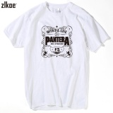 Ulasan Tentang 2017 Pria Mencetak Pantera T Shirt Lengan Pendek O Neck Summer Fashion Putih Power Heavy Metal Rock T Shirt Swag Intl