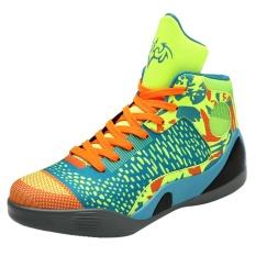 2017 Pria Wanita Beberapa Berpotongan Tinggi Sepatu Basket Bernapas dan Nyaman Sepatu Luar Ruangan Ukuran 36-46 Hijau Neon-Intl