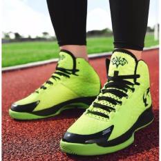 Beli 2017 Pria High Top Sneakers Casual Sepatu Basket Sepatu Nyaman Sneakers Outdoor Latihan Atletik Karet Tinggi Ankle Boots Intl Baru