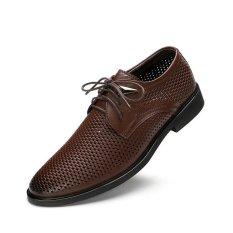Harga 2017 Pria Fashion Bernapas Kasual Leather Round Sepatu Bisnis Plus Ukuran 37 46 Intl Oem Tiongkok