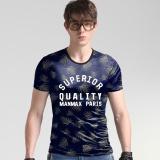 Katalog 2017 Kasual Fesyen Pria Korea Sutra Leisure Slim T Shirt Ukuran Besar Printing T Shirt Intl Oem Terbaru