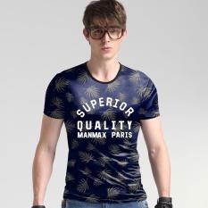 Harga 2017 Kasual Fesyen Pria Korea Sutra Leisure Slim T Shirt Ukuran Besar Printing T Shirt Intl New