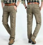 Beli 2017 Mens Fashion Militer Cargo Pants Multi Kantong Baggy Pria Pants Kasual Celana Overall Angkatan Darat Celana Lari Intl Kredit Tiongkok