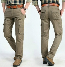 Toko 2017 Mens Fashion Militer Cargo Pants Multi Kantong Baggy Pria Pants Kasual Celana Overall Angkatan Darat Celana Lari Intl Termurah Tiongkok