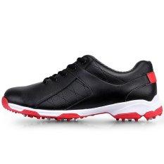 Harga 2017 Men S Golf Sepatu Outdoor Olahraga Sepatu Tahan Air Eva Midsole Kulit Microfiber Hitam Intl Pgm Tiongkok