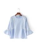 Harga Za Eropa Dan Amerika Angin Baru Tanduk Lengan Renda Blus Seperti Gambar Seperti Gambar Baju Wanita Baju Atasan Kemeja Wanita Merk Oem