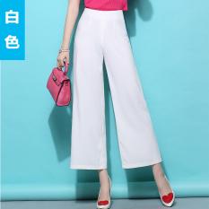 Toko Secara Signifikan Lebih Tinggi Pinggang Tinggi Lebar Kaki Celana Kulot Putih Putih Oem Di Tiongkok