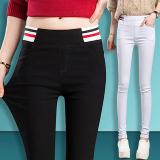 Diskon Tidak Berputar Keelastikan Bagian Tipis Celana Wanita Baru Legging Biru Tua Oem