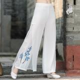 Beli Sifon Angin Nasional Musim Semi Dan Musim Gugur Baru Celana Panjang Putih Putih Pake Kartu Kredit