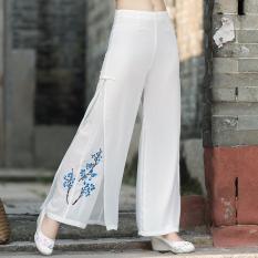 Ulasan Tentang Sifon Angin Nasional Musim Semi Dan Musim Gugur Baru Celana Panjang Putih Putih