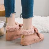 Harga 2017 Baru All Match Female Siswa Musim Dingin Katun Sepatu Dengan Kasual Datar Hangat Boots High Boots For Female Tabung Pendek Intl New
