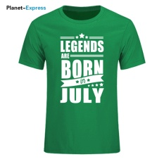 2017 Baru Kedatangan Pria Fashion T-shirt Legends Lahir Pada Bulan Oktober Hadiah Ulang Tahun T Shirt Pria Kapas O- Leher Tops Tees 002 (Hijau) -Intl