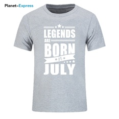 2017 Baru Kedatangan Pria Fashion T-shirt Legends Lahir Pada Bulan Oktober Hadiah Ulang Tahun T Shirt Pria Kapas O-neck Tee Atasan 002 (grey) -Intl