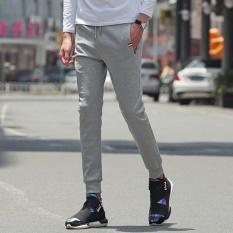 2017 Baru Kedatangan Pria Elastis Breathable Running Pants Leisure Sport Pants-FLM102-332 (Putih)-Intl