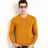 Beli 2017 Baru Musim Gugur Mens V Leher Kemeja Rajut Mens Panjang Lengan Sweater Mens Kaos International Online Terpercaya