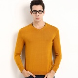 2017 Baru Musim Gugur Mens V Leher Kemeja Rajut Mens Panjang Lengan Sweater Mens Kaos International Diskon Tiongkok