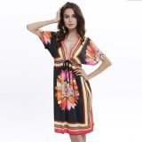 Situs Review New Boho Women Dress S*xy Loose Sundresses Deep V Ethnic Dashiki Print Tunic Beach Dresses Big Size Woman Sundress Robe Black Intl