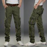 Review 2017 Baru Kasual Pria Taktis Cargo Pants Slim Multi Mengantongkan Pria Celana Tiga Warna Tersedia Fashion Cargo Pants Hot Sale Intl Tiongkok
