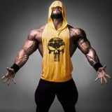 Harga 2017 Baru Pakaian Fitness Tank Top Men Stringer Emas Binaraga Bodybuilding Workout Vest Gym Undershirt Plus Ukuran Kuning Intl Murah