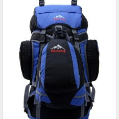 Diskon 2017 New Double Bag Backpack Tourism Outdoor Leisure Sports Bag Camping 55L Color Blue Int L Intl Oem Tiongkok