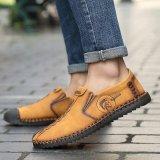 Jual 2017 Baru Fashion Laki Laki Nyaman Sepatu Tali Kokoh Asli Kulit Sepatu Pria Fashion Emas Intl