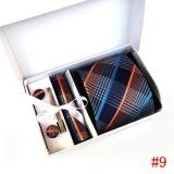 Toko 2017 New Kualitas Tinggi 8 Cm Dasi Set Untuk Pria Atau Pocket Square Dasi Klip Saputangan Mens Bergaris Pernikahan Pesta Dasi Dengan Kotak Hadiah Multicolor Lengkap Tiongkok