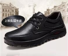 Diskon 2017 Baru Kulit Kaki Pria Bisnis Sepatu Kasual Pria Besar Sepatu Kulit Cowhide Penetrasi Plus Ukuran 38 48 Intl Branded
