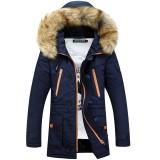 Review 2017 Baru Pria Katun Menebal Big Fur Collar Hooded Jaket Di Bagian Panjang Pecinta Muda Intl Oem Di Tiongkok
