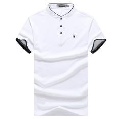 Harga 2017 Baru Pria Solid Warna T Shirt Lengan Pendek Setengah Collar Lengan Pendek Polo Shirt Intl Oem Ori