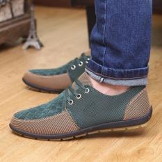 Harga 2017 Baru Mens Suede Slip On Berkendara Sepatu Sandal Sepatu Bernapas Sepatu Kasual Intl New