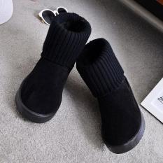 2017 Baru Salju Bot Datar Hangat Bot Sepatu Bot Katun Flensa Set Kaki Di Tabung Katun Kasual Sepatu- internasional