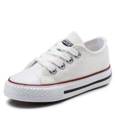 Promo 2017 Kids Canvas Shoes Low Top Skateboard Sepatu Slip Ons Olahraga Sepatu Anak Laki Laki Kasual Sepatu Girls Fashion Sneakers L17205 Putih Intl Akhir Tahun
