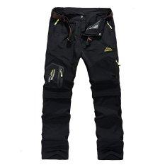 2017 A Baru Fashion Cepat Kering Outdoor Celana Tipis Tahan Air dan Windproof Camping Hiking Sport Pants-5817 Hitam