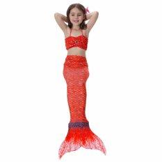 Jual 2017 Baru Musim Panas 4 8Y Anak Gadis Merah Mermaid Ekor Putri 3 Pcs Set Swimsuit Anak Baju Kostum S003 Intl Murah Di Tiongkok