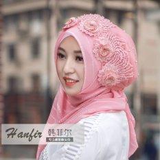 2017 Baru Gandum Muna Sorban Syal Jilbab Sederhana Ayat Ganda Sepotong Topi Bagian-(Intl)-Intl