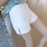 Review Toko 2017 Baru Wanita Celana Pendek Denim Musim Panas Pendek Feminino Ukuran Tinggi Pinggang Denim Casual Jeans Lubang Denim Shorts Putih Intl