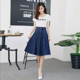 Review Toko 2017 Musim Semi Dan Musim Panas Wanita Korea S Fashion Show Tipis Skinny Jeans Rok Biru Intl Online