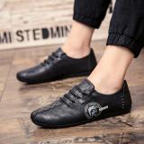 Toko 2018 Spring Baru Pria Peas Korea Fashion Leather Casual Loafers Sepatu Intl Lengkap