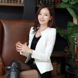 Promo 2017 Semi Jas Wanita Blazer Slim New Fashion Jaket Kasual Wanita Satu Kancing Lengan Panjang Setelan Blazer Pakaian Kerja S Putih International Di Tiongkok
