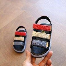 2017 Summer Fashion Gadis Leisure LED Baby Sandal (Hitam)-Intl