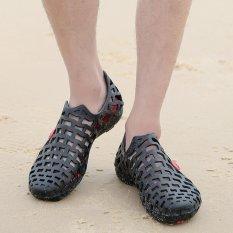 Situs Review 2017 Musim Panas Busana Unisex Pria Wanita Sepatu Loafer Sandal Kasual Sneakers Pantai Oxfords Shoes Pasangan Menyukai Sepatu Pria Hitam Intl