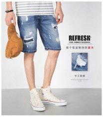 2017 Summer Men Short Jeans Pria Fashion Shorts Pria Hot Sale Pakaian Musim Panas jeans Robek-Intl