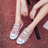 Spesifikasi 2017 Musim Panas Baru Nyaman Liar Kasual Sepatu Cross Tali Velcro Sepatu Kanvas Fesyen Kasut Kanvas Pink Intl Murah Berkualitas