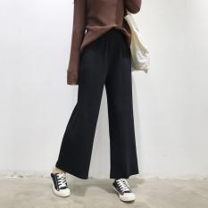 Toko Chic Kulot Korea Fashion Style Rajutan Musim Semi Dan Musim Panas Hitam Termurah Di Tiongkok