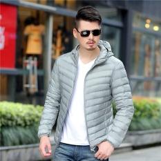 2017 Musim Dingin untuk Meningkatkan Ukuran Model Tipis Berkerudung Pria Jaket Bulu Angsa-Intl