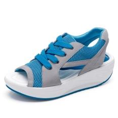 Jual 2017 Wanita Fashion Musim Panas Sandal Air Net Kain Ikan Mulut Sepatu Shake Sepatu Meningkatkan Rekreasi Sepatu Intl Ori