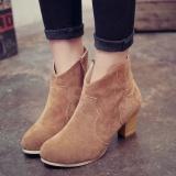 Beli 2017 Wanita Gaya Inggris Martin Boots Musim Semi Dan Musim Gugur Sepatu Bot Kulit Matte Kasar Boots Bare Boots Intl Oem Online
