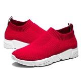 Spesifikasi 2017 Wanita S Casual Slip Ons Pria Musim Panas Mesh Flats Untuk Wanita Loafer Sepatu Kasual Nyaman Solid Breathable Outdoor Berjalan Wanita Lazy Sepatu Merah Intl Terbaik