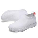 Diskon Produk 2017 Wanita S Casual Slip Ons Pria Musim Panas Mesh Flats Untuk Wanita Loafer Sepatu Kasual Nyaman Solid Breathable Outdoor Berjalan Wanita Lazy Sepatu Putih Intl